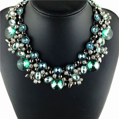 NEW hot sale Z fashion necklace collar bib Necklaces & Pendants Colorful crystal statement necklace choker Necklaces jewelry-in Choker Necklaces from Jewelry on Aliexpress.com | Alibaba Group