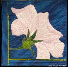 Georgia O'Keefe - inspired quilt by Marlene Singer. Quilt Inspiration: World Painter's Challenge. by leann Quilting Projects, Quilting Designs, Quilting Ideas, World Painter, Fall Arts And Crafts, Flower Quilts, Textile Fiber Art, Landscape Quilts, Thread Painting