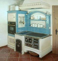 A fun image sharing community. Explore amazing art and photography and share your own visual inspiration! Stove Oven, Kitchen Stove, Old Kitchen, Kitchen Dining, Alter Herd, Wood Panneling, Wood Stove Cooking, Wood Projects For Kids, Antique Stove