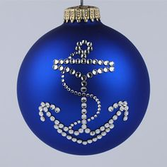 anchor ornament presenting a handcrafted anchor christmas tree ornament with authentic swarovski rhinestones navy serviceman in your life