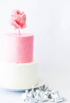 Cotton Candy Cake Topper, party ideas, www.petitepuf.com @PetitePuf