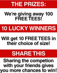 I am in the draw to win Qwertee's 100K Giveaway! 100,000 Fans = 100 Free Tees!!! from Qwertee.com.