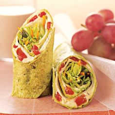 Mediterranean Wrap http://www.prevention.com/food/high-protein-dinner-recipes/slide/6