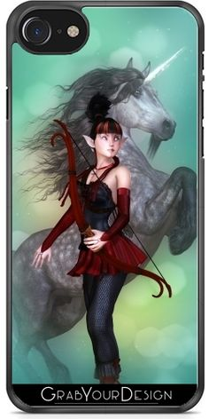 GrabYourDesign - Case for Iphone 7/7S Unicorn Fighter - by Illu-Pic.-A.T.Art