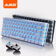 47.69$  Watch now - http://alibbh.worldwells.pw/go.php?t=32733125143 - Ajazz Geek AK33 Backlignt Edition Mechanical Keyboard Blue Switch Gaming Keyboards for Tablet Desktop Hot Original