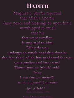 A beautiful hadith