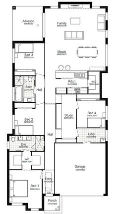 24 Best Single Storey Designs Images Floor Plans Single Storey