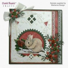 Image Detail for - . Christmas Bunny, Christmas Cards To Make, Marianne Design, Scrapbook Cards, Advent Calendar, Special Occasion, Gift Wrapping, Joy, Holiday Decor