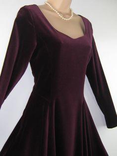 LAURA ASHLEY Vintage Amaranthine Velvet by VintageLauraAshley