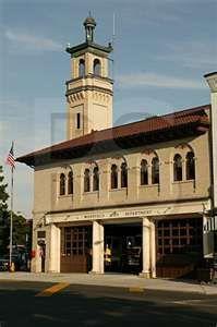 Westfield, fire station - The Jolly Trolley was next door - great shrimp Caesar salad!
