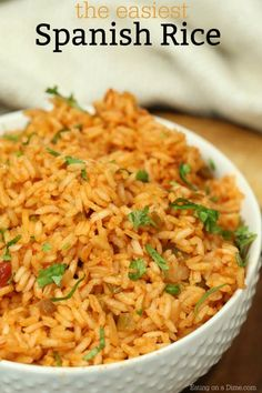 Easy Spanish Rice Recipe – Homemade Spanish Rice This recipe for homemade spanish rice tastes just like the restaurants.Try this easy Spanish rice recipe. Learn how to make spanish rice.Try this delicious homemade rice recipe today! Recipe For Homemade Spanish Rice, Homemade Mexican Rice, Mexican Rice Recipes, Homemade Recipe, Spanish Rice Recipe With Cooked Rice, Spanish Rice Recipes, Easy Mexican Rice, Rice And Salsa Recipe, Restaurant Spanish Rice Recipe