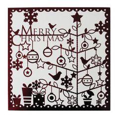 Papercut christmas card, British Heart Foundation