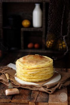 Kanela and Lemon: Pancakes Lemon and Anise Lemon Pancakes, Crepes And Waffles, Mexican Food Recipes, Sweet Recipes, European Breakfast, Spanish Dishes, Good Food, Yummy Food, Sandwiches For Lunch