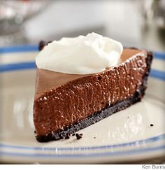 French Silk Pie:  Bittersweet #chocolate and Dutch-process cocoa meld with a shot of fresh brewed #coffee to give an ultra-rich flavor to this creamy pie.