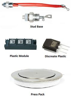 Different Types of SCRs and Packages Semiconductor Materials, Construction Images, Power Electronics, Different Types