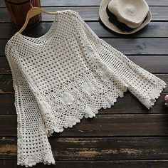 Crochet summer hat pattern yarns new ideas Black Crochet Dress, Crochet Skirts, Crochet Cardigan, Crochet Clothes, Débardeurs Au Crochet, Mode Crochet, Crochet Stitches, Crochet Patterns, Crochet Tops