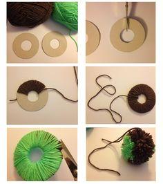 Id es cr ations et tutos pompons en laine d couvrez comment faire un pompon en laine et plein - Comment faire des pompons ...