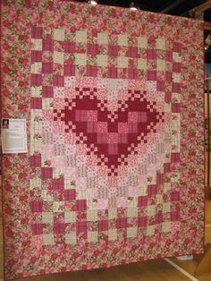 ~ Around the World Heart Quilt ~ by Sandy Berry....