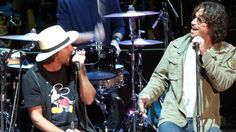 Near the end of Pearl Jam acoustic set, Vedder asked the crowd. Are there any more singer back there?