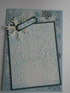 Snowy Snowman Card by candee porter - Cards and Paper Crafts at Splitcoaststampers