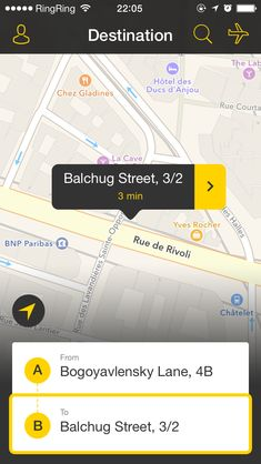 02 fixtaxi iphone 5 app map screen