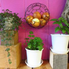 This handmade wire basket is designed to hang on the wall and hold small items…