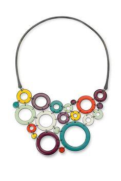 Annie Grimes Williams : CopperTide Fine Metalwork and Enameling - Open Circle Neckpiece Enamel Jewelry, Jewellery, Business Women, Metal Working, Annie, Copper, Pendants, Fire, Jewels
