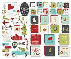 Simple Stories - SNAP Collection - Christmas - Insta Squares and Pieces - 'Tis the Season at Scrapbook.com