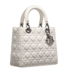 Christian Dior Latte-coloured matt leather 'Lady Dior' bag