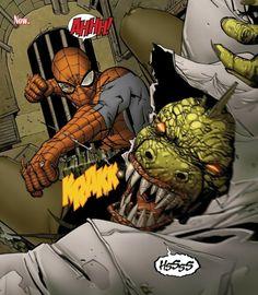 Spider-Man vs. the Lizard in Amazing Spider-Man #688