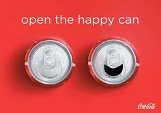 """What if a can of Coke could smile back? 