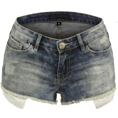 BEKDO Womens Vintage Inspired Distressed Cutoff Leg Shorts with Long... ($25) ❤ liked on Polyvore featuring shorts, long cut off shorts, torn shorts, pocket shorts, cut-off shorts and distressed shorts