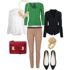 This layered look is perfect as fall transitions into winter. One caution: be certain that light colored skinny pants are not too tight. They can start looking very inappropriate very quickly when they do not fit properly.