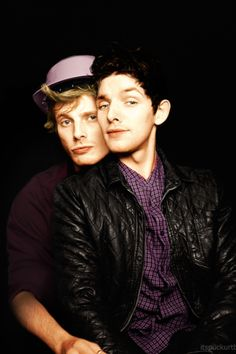 Colin Morgan and Bradley James - Arthur Pendragon and Merlin - BBC Series they have the best bromance ever. Bradley James, Colin Bradley, Merlin Fandom, Merlin Colin Morgan, James Arthur, James 3, Merlin Cast, Merlin And Arthur, Katie Mcgrath