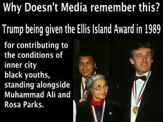Trump given Ellis Island award for contributions to NY City minorities. Donald Trump, Trump Is My President, Political Quotes, Republican Quotes, Political Views, Ellis Island, Trump Train, Conservative Politics, Thats The Way
