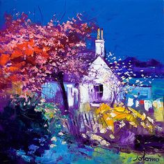 John Lowrie Morrison (Jolomo) - Signed Limited Edition Prints and Art Prints - Red Rag British art gallery Abstract Landscape, Landscape Paintings, Chapelle, Paintings I Love, Framed Art Prints, Bunt, Art Gallery, Spring, Framed Pictures