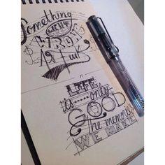 Rayones de libreta #lettering #sketch #alejandroolarteletteringstuff #aolartelettring