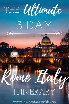 Are you planning your first trip to the Rome? Then check out my latest post on all the best things to do in Rome Italy with this amazing 3 day Rome itinerary! italy travel tips Italy Travel Tips, Europe Travel Guide, Rome Travel, Travel Guides, Budget Travel, Travel Destinations, Italy Tourism, Europe Tourism, 3 Days In Rome