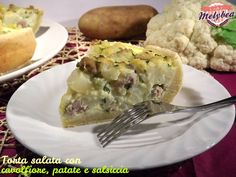 Torta salata con cavolfiore patate e salsiccia