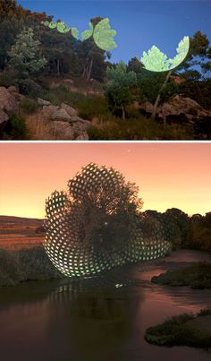 Javier Riera - Geometric Projections: Light Art Radically Reshapes Nature