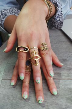 #fingerparty, rings, jewelry, nail art
