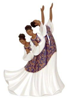 Giving Praise (Purple): Praise Dancer Figurine | The Black Art Depot