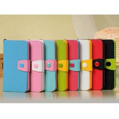 Magnetic Button Stand & Card Slot Hit Color Leather Wallet Case for Samsung Galaxy Note 3 III N9000 - Red