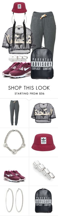 """Silver & Purple Swag"" by missk2blue ❤ liked on Polyvore featuring Lija, Kokon To Zai, Versace, adidas Originals, NIKE, Maison Margiela, Roberta Chiarella, Urban Junk, women's clothing and women's fashion"