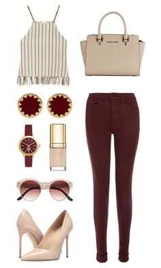 """#42 Casually Lovely"" by jocelynleebold ❤ liked on Polyvore featuring Miguelina, J Brand, Massimo Matteo, Michael Kors, House of Harlow 1960, Tory Burch, Dolce&Gabbana and River Island"