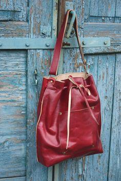 SALE!!! -30%!!! Leather bag, Red bag, Handbag, Unusual, Unique, Navaho by clothesNavaho on Etsy