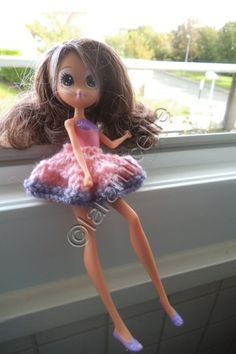 Free tutorial doll mini skirt to dance
