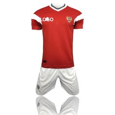 e80fdb499a6 2018 Russia World Cup Adult Russia Home Red/white Soccer Uniform Men  Football Kits Custom