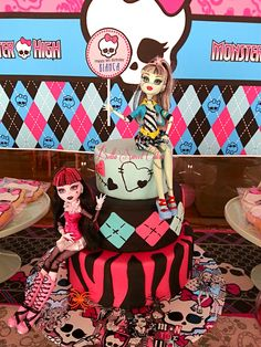 Incredible Monster High birthday cake!  See more party ideas at CatchMyParty.com!  #girlbirthday