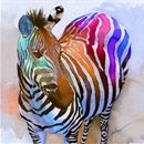 Zebra Dreams - I usually don't go for water color, but for some reason this looks so cool to me.